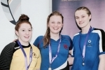 swimming mhairi s feb 2017200IM podium from Scottish Schools