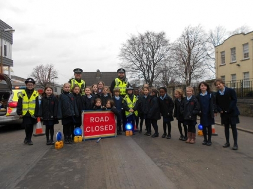 Junior road safety club and police visit 32
