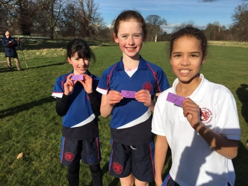 P5 runners at compass x country